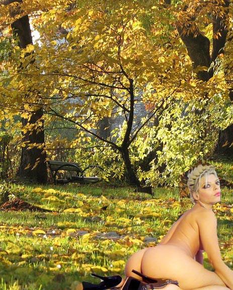 amatrice exhibe dans un parc